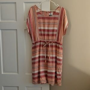 Old Navy Striped Linen Dress